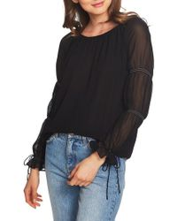 1.STATE - Double Gathered Sleeve Blouse - Lyst
