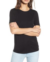 d83dbee80f1f Lyst - AG Jeans Tanner Ribbed Tee in Black