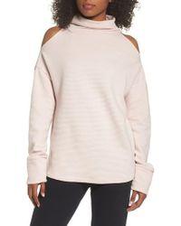 Varley | Hampton Cold Shoulder Sweatshirt | Lyst