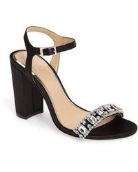 Badgley Mischka - Hendricks Embellished Block Heel Sandal - Lyst