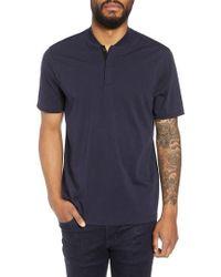 Calibrate - Trim Fit Henley T-shirt - Lyst