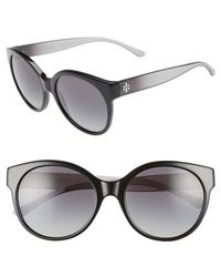 Tory Burch - Stacked T 55mm Round Sunglasses - Lyst