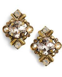 Sorrelli - Shielded Crystal Stud Earrings - Lyst