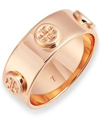 Tory Burch - Delicate Logo Ring - Lyst