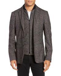 BOSS - Nanon Trim Fit Plaid Wool Blend Sport Coat - Lyst