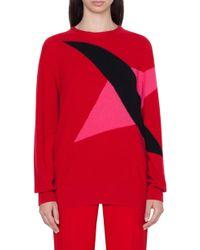 19943736a3a Akris - Double Diamond Intarsia Cashmere Sweater - Lyst