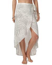 Rip Curl - Shorelines Wrap Skirt - Lyst