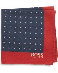 BOSS - Dot Wool Pocket Square - Lyst