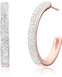 Monica Vinader - Fiji Large Diamond Hoop Earrings - Lyst