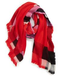Leith - Colorblock Plaid Scarf - Lyst