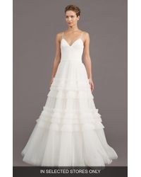 Amsale - Saylor Ruffle A-line Gown - Lyst