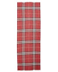 Burberry - Giant Check Print Wool & Silk Scarf - Lyst