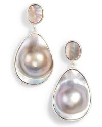Chan Luu - Mabe Pearl Drop Earrings - Lyst