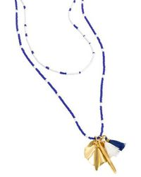 J.Crew | J.crew Beaded Shell & Tassel Pendant Necklace | Lyst