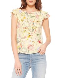 Parker - Terry Floral Silk Top - Lyst