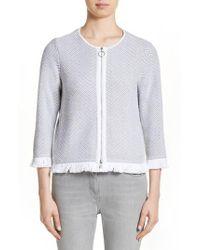 Fabiana Filippi - Chevron Knit Jacket - Lyst