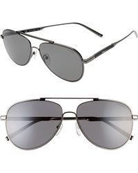 Ferragamo - Classic Logo 60mm Polarized Aviator Sunglasses - Shiny Gold/ Tortoise - Lyst