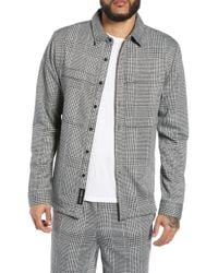Native Youth - Houndstooth Check Overshirt - Lyst