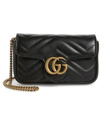 Gucci - Supermini Gg Marmont 2.0 Matelasse Leather Shoulder Bag - Lyst