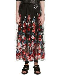 Maje - Jamie Embroidered Maxi Skirt - Lyst