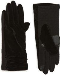 Echo - Radhika Vevlet Touch Gloves - Lyst