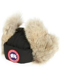 Canada Goose - Down Fill Aviator Hat With Genuine Coyote Fur Trim - - Lyst