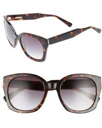 Derek Lam - Sadie 54mm Sunglasses - Havana Tortoise - Lyst