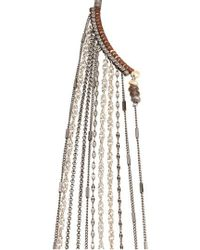Nakamol | Chain Fringe Half Necklace | Lyst