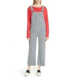Rag & Bone - Patched Dungarees - Lyst