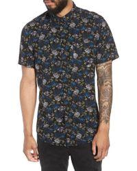 The Rail - Woven Print Shirt - Lyst