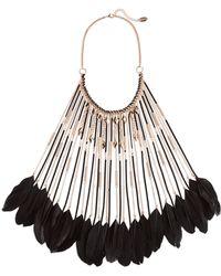 Natasha Couture - Natasha Feather Long Bib Necklace - Lyst