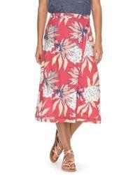 Roxy - Endless Valley Print Surplice Skirt - Lyst