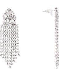 Nina - Art Deco Fringe Chandalier Earrings - Lyst