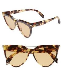 Alexander McQueen - 58mm Cat Eye Sunglasses - Avana - Lyst