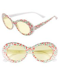 Circus by Sam Edelman - 70mm Cherry Print Oval Sunglasses - Lyst