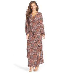 Fraiche By J - Paisley Print Maxi Dress - Lyst