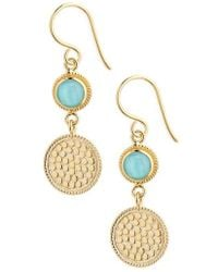 Anna Beck - Semiprecious Stone Double Drop Earrings - Lyst