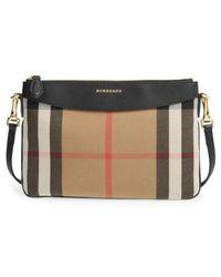 Burberry | 'peyton - House Check' Crossbody Bag | Lyst