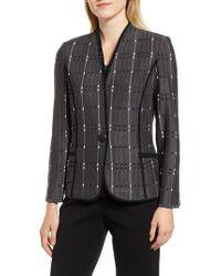 Ming Wang - Jacquard Knit Jacket - Lyst