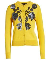 J.Crew - Sequin Floral Embroidered Jackie Cardigan - Lyst