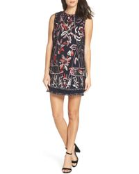 Foxiedox - Takeo Embroidered Shift Dress - Lyst