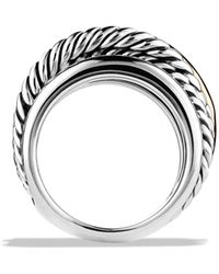 David Yurman - 'crossover' Narrow Ring With Gold - Lyst