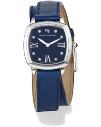 David Yurman - 'albion' 27mm Leather Swiss Quartz Watch With Diamonds - Lyst