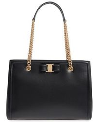 Ferragamo - Melike Leather Tote - Lyst
