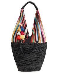 Vince Camuto - Hedda Convertible Straw Tote - Lyst