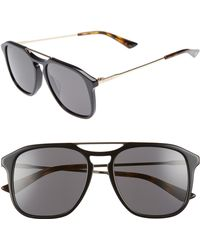 29aaee3b9ee Lyst - Gucci Light Steel Aviator Sunglasses in Gray for Men