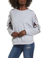 SuperTrash - Taffic Cutout Sweatshirt - Lyst