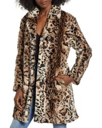 BB Dakota - Bradshaw Leopard Spot Faux Fur Coat - Lyst