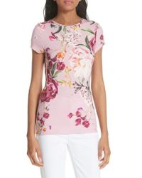 Ted Baker - Evaai Serenity Fitted Tee - Lyst