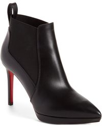 dc38dad05738 Christian Louboutin - Crochinetta 100 Leather Ankle Boots - Lyst